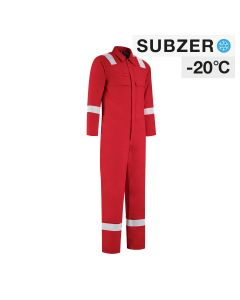 Dapro Blizzard Multinorm Lined Winter Overall - Red - Flame-Retardant , Anti-Static and Welding