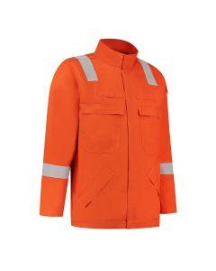 Dapro Diamond Multinorm Jacket 98% Cotton - Orange - Flame-Retardant , Anti-Static , Welding , Arc Flash Protection and Chemical Resistant