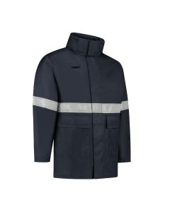 Dapro Access Multinorm Raincoat: Flame-Retardant, Anti-Static and Chemical Resistant– Navy Blue