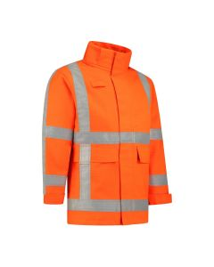 Dapro Blaze Multinorm Reflect Raincoat - Hi-Vis Orange - Flame-Retardant, Anti-Static, Welding, Arc Flash Protection and Chemical Resistant