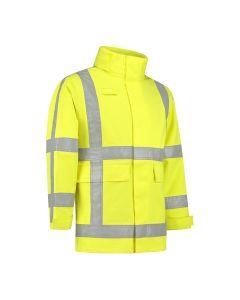 Dapro Blaze Multinorm Raincoat - Hi-Vis Yellow - Flame-retardant , Anti-Static , Welding Proof , Arc Flash Protection and Chemical resistent