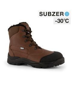 Dapro Canyon C S3 C Subzero® Fur Lined and Insulated Safety Shoes - Brown - Composite toecap and Anti-Perforation Textile Midsole