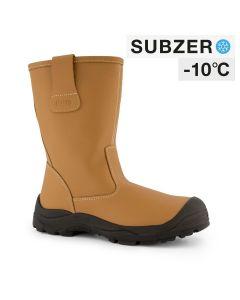 Dapro Elements 4 S3 C Subzero® Fur Lined Safety Boots - Light Brown - Steel Toecap Anti-Perforation Steel Midsole