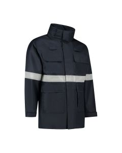 Dapro Infinity Multinorm Raincoat - Navy Blue - Flame-Retardant, Anti-Static and Chemical Resistant