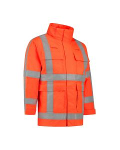 Dapro Infinity Reflect Multinorm Raincoat: Flame-Retardant, Anti-Static, Hi-Vis and Chemical Resistant - Orange