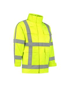 Dapro Infinity Reflect Multinorm Raincoat - Hi-Vis Yellow - Flame-Retardant, Anti-Static and Chemical Resistant