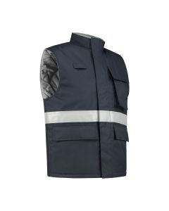 Dapro Protector Multinorm Waterproof Bodywarmer - Navy Blue - Flame-Retardant, Anti-Static and Chemical Resistant