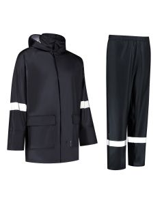 Dapro PU Hydrolite Rain Suit - Navy Blue - Flame-Retardant and Anti-Static
