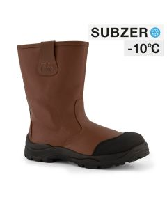 Dapro Rigger C S3 C Subzero® Fur Lined and Insulated Safety Boots - Brown - Composite toecap and Anti-Perforation Textile Midsole