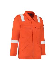 Dapro Roughneck Multinorm Jacket 98% Cotton - Orange - Flame-Retardant, Anti-Static, Arc Flash Protection and Welding