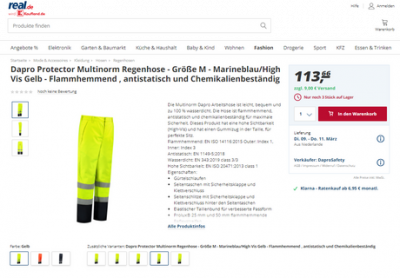 Dapro safety products are now available on Real.de